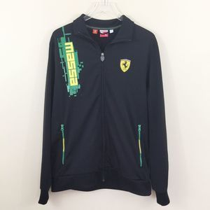 Puma Ferrari Massa Full Zip Black Track Jacket XL